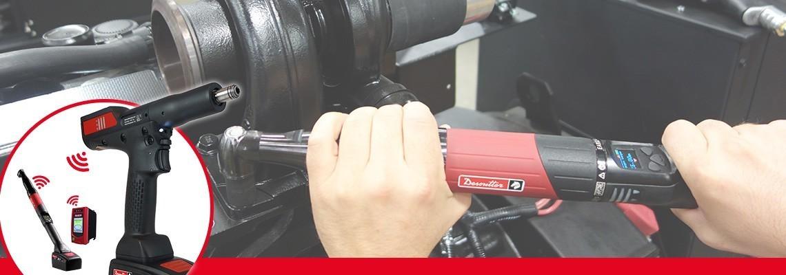 Scoprite EABCom - EPBCom avvitatori a batteria di Desoutter Industrial Tools. Connettete 4 utensili a batteria con trasduttore di coppia ad un unico controller per una tracciabilità al 100%.