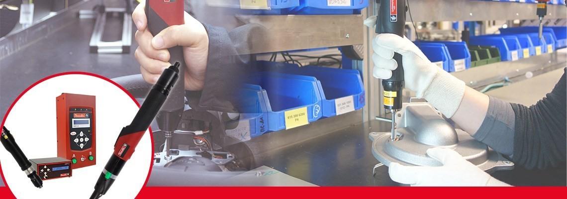 Scopri la gamma di cacciaviti elettrici industriali Desoutter. Potenti e facili da usare. Contattaci per maggiori informazioni sul nostro SLK cacciaviti elettrci e SLE cacciaviti elettrici ad alta potenza.