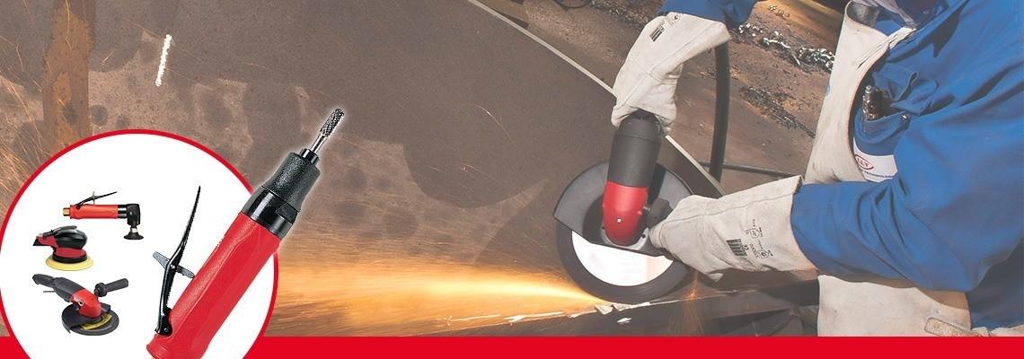 Riguardo la nostra completa gamma di smerigliatrici e levigatrici pneumatiche, scopri quelle a disco forato, richiedi un preventivo o una dimostrazione!